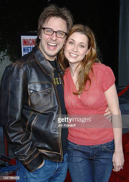 James Gunn and Jenna Fischer during 'American Dreamz' Los Angeles Premiere Arrivals at ArcLight Hollywood in Hollywood California United States