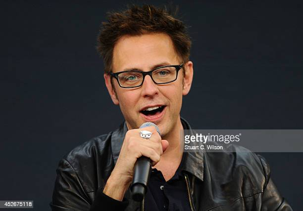 James Gunn attends the Meet the FilmMakers event for Guardians of the Galacy on July 25 2014 in London England