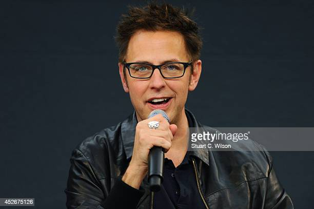 """James Gunn attends the Meet the FilmMakers event for """"Guardians of the Galacy"""" on July 25, 2014 in London, England."""