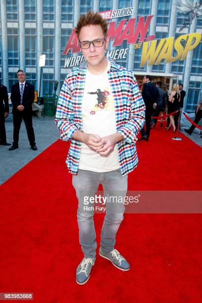 James Gunn attends the premiere of Disney And Marvel's 'AntMan And The Wasp' on June 25 2018 in Hollywood California
