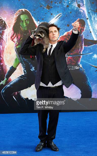 James Gunn attends the UK Premiere of Guardians of the Galaxy at Empire Leicester Square on July 24 2014 in London England
