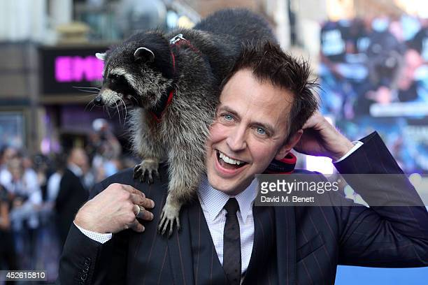 """James Gunn attends the UK Premiere of """"Guardians of the Galaxy"""" at Empire Leicester Square on July 24, 2014 in London, England."""