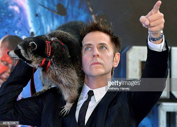 James Gunn attends the UK Premiere of 'Guardians of the Galaxy' at Empire Leicester Square on July 24 2014 in London England