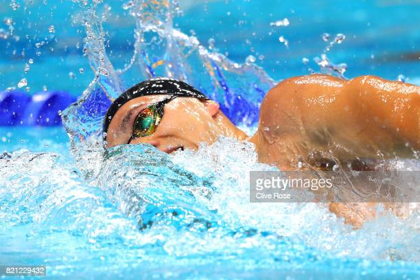 James Guy of Great Britain during the Men's 400m Freestyle Final on day ten of the Budapest 2017 FINA World Championships on July 23 2017 in Budapest...