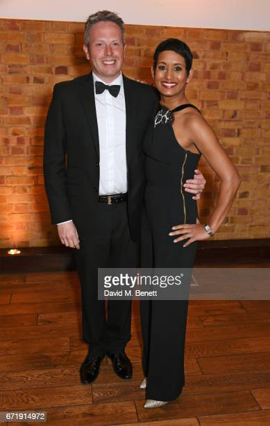 James Haggar and Naga Munchetty attend the British Academy Television Craft Awards at The Brewery on April 23 2017 in London United Kingdom