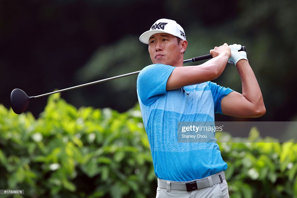 James Hahn of the United States plays a tee shot on the 2nd hole during day four of the 2016 CIMB Classic at Kuala Lumpur Golf & Country Club on October 23, 2016 in Kuala Lumpur, Malaysia.