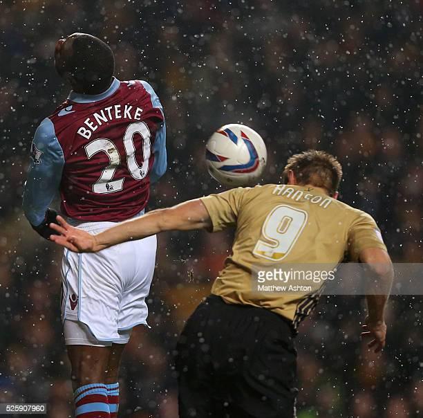 James Hanson of Bradford City scores a goal to make it 11
