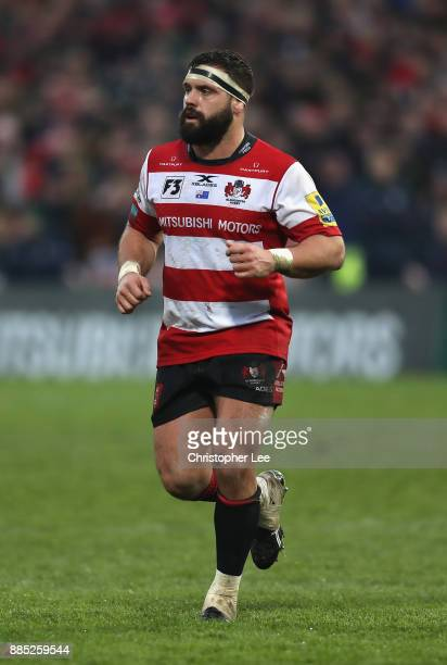 James Hanson of Gloucester during the Aviva Premiership match between Gloucester Rugby and London Irish at Kingsholm Stadium on December 2 2017 in...