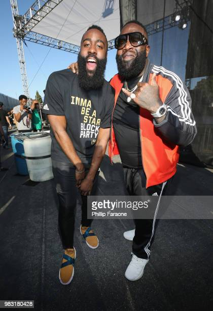 James Harden arrives at 'Imma Be a Star' Block Party at Audubon Middle School on June 24 2018 in Los Angeles California
