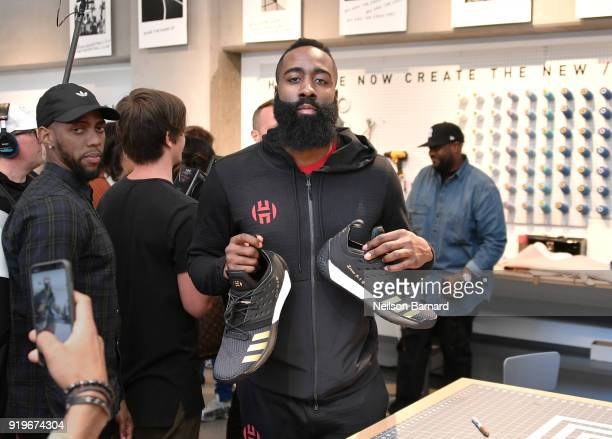 James Harden at Maker Lab at adidas Creates 747 Warehouse St an event in basketball culture on February 17 2018 in Los Angeles California