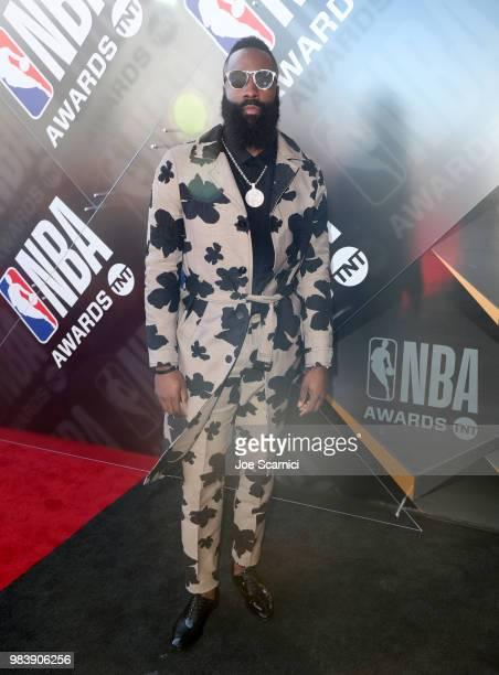James Harden attends 2018 NBA Awards at Barkar Hangar on June 25 2018 in Santa Monica California