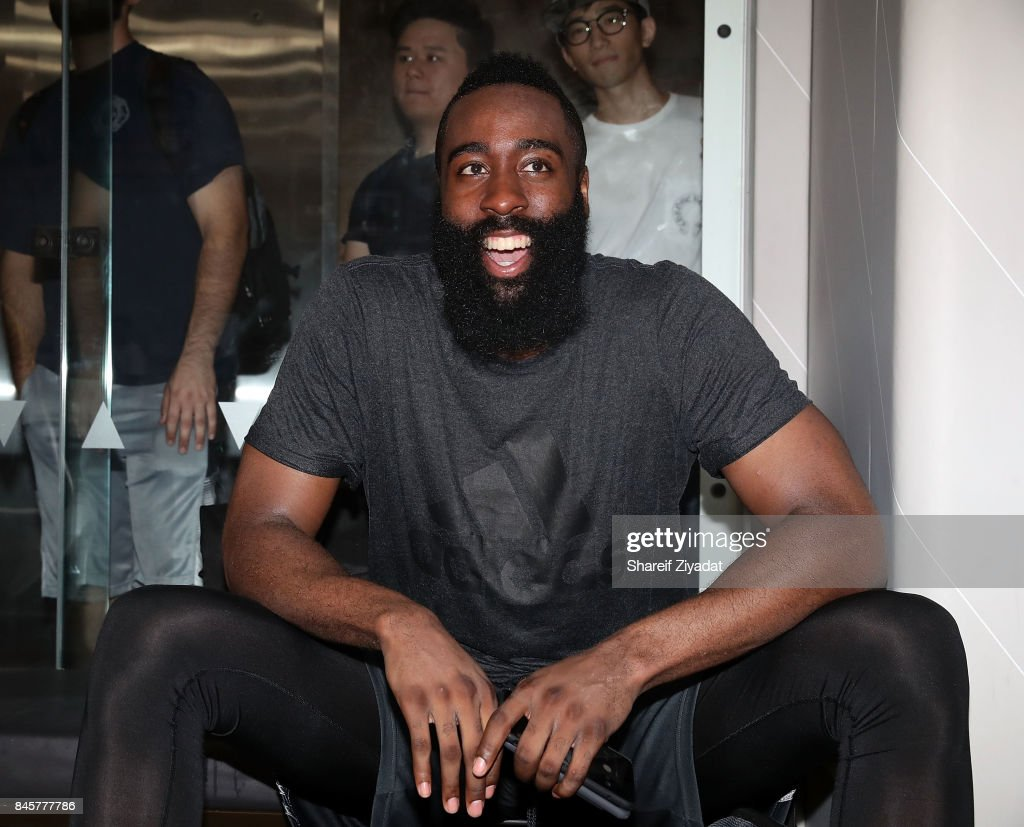 James Harden attends Black Ops Basketball Session at Life Time Athletic At Sky on September 11, 2017 in New York City.