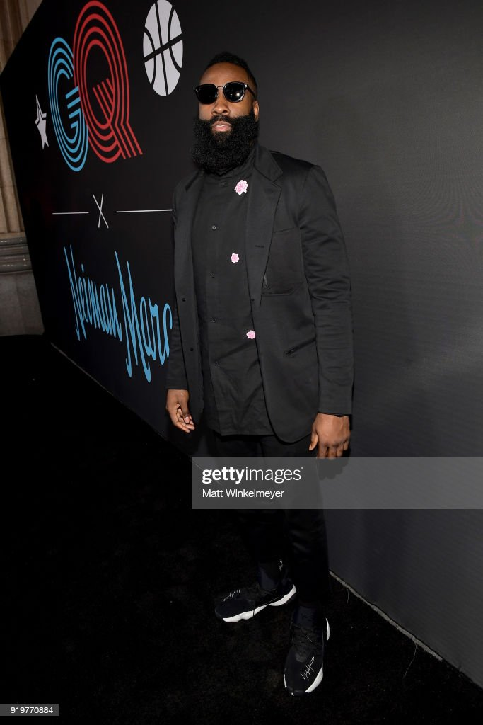 James Harden attends the 2018 GQ x Neiman Marcus All Star Party at Nomad Los Angeles on February 17, 2018 in Los Angeles, California.