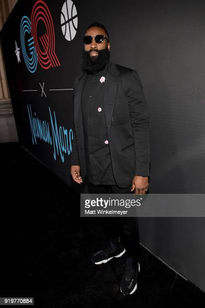 James Harden attends the 2018 GQ x Neiman Marcus All Star Party at Nomad Los Angeles on February 17 2018 in Los Angeles California