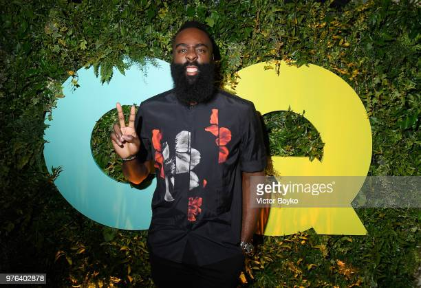 James Harden attends the GQ Milan Cocktail Party during Milan Men's Fashion Week Spring/Summer 2018/19 on June 16, 2018 in Milan, Italy.