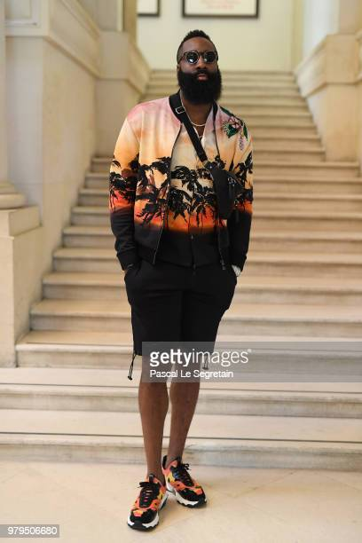 James Harden attends the Valentino Menswear Spring/Summer 2019 show as part of Paris Fashion Week on June 20, 2018 in Paris, France.