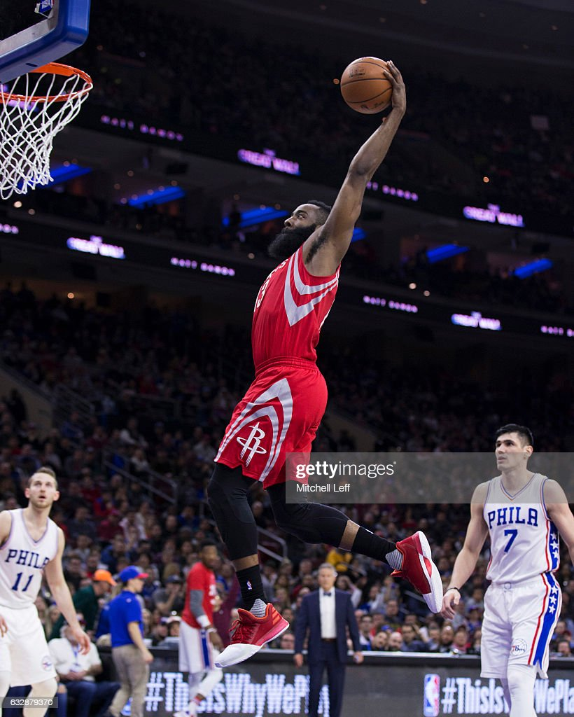 Houston Rockets News Today: James Harden Of The Houston Rockets Dunks The Ball Past