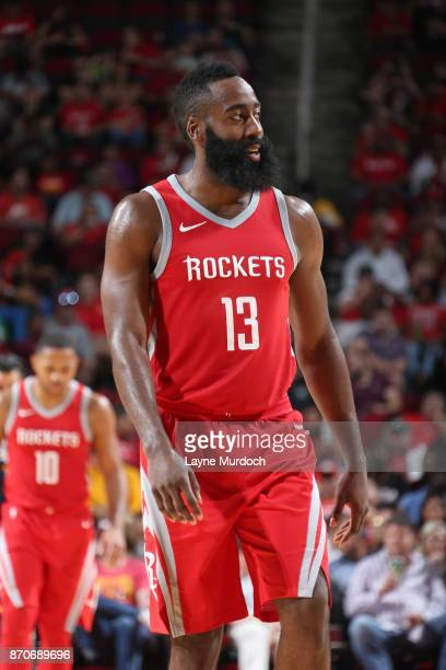 James Harden of the Houston Rockets during the game against the Utah Jazz on November 5 2017 at the Toyota Center in Houston Texas NOTE TO USER User...