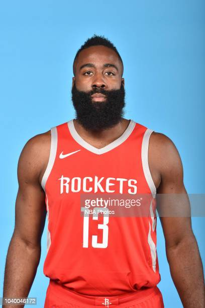 James Harden of the Houston Rockets poses for a head shot during Media Day on September 24 2018 at the Toyota Center in Houston Texas NOTE TO USER...