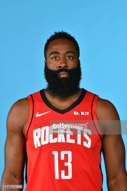 James Harden of the Houston Rockets poses for a head shot during media day on September 27, 2019 at The Post Oak Hotel in Houston, Texas. NOTE TO...