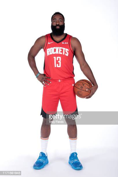 James Harden of the Houston Rockets poses for a portrait during media day on September 27, 2019 at The Post Oak Hotel in Houston, Texas. NOTE TO...