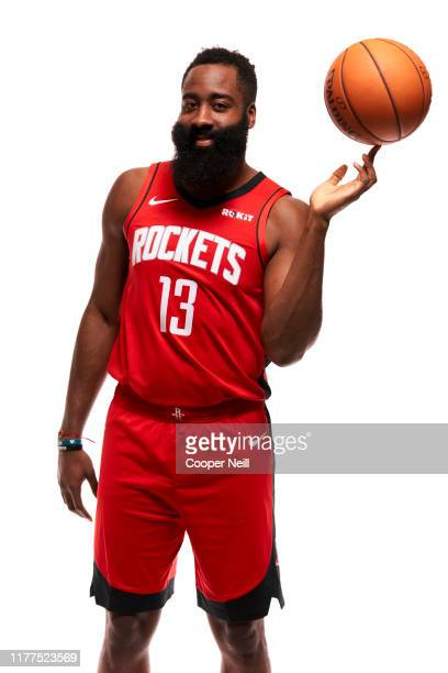 James Harden of the Houston Rockets poses for a portrait during media day at the Post Oak Hotel on September 27, 2019 in Houston, Texas.