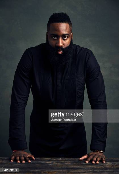 James Harden of the Houston Rockets poses for portraits during the NBAE Circuit as part of 2017 AllStar Weekend at the RitzCarlton Hotel on February...