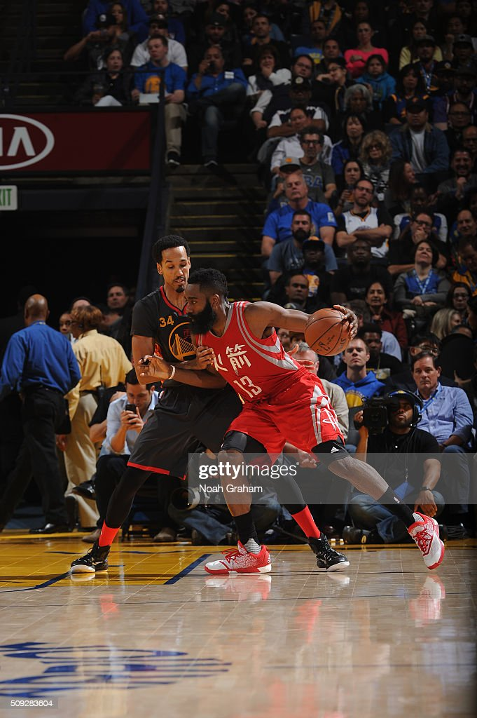 9d3d621f59dd James Harden of the Houston Rockets posts up against Shaun ...