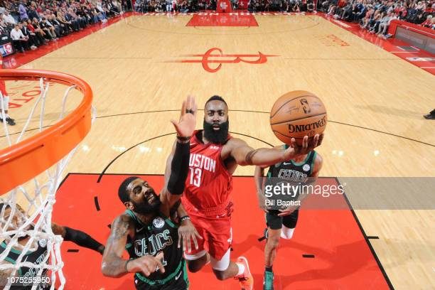 James Harden of the Houston Rockets shoots the ball against the Boston Celtics on December 27 2018 at the Toyota Center in Houston Texas NOTE TO USER...