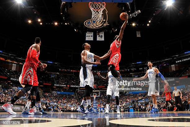 James Harden of the Houston Rockets shoots the ball against the Orlando Magic on December 23 2015 at Amway Center in Orlando Florida NOTE TO USER...