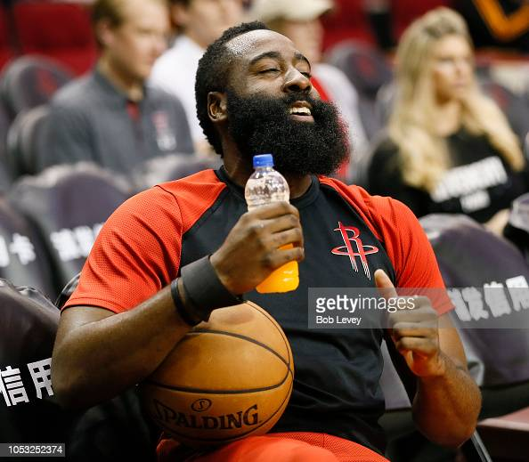 Houston Rockets News Today: James Harden Of The Houston Rockets Sits On The Bench