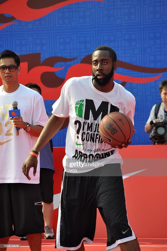 James Harden of the Oklahoma City Thunder attends a NIKE training camp on June 6, 2010 in Shanghai, China.