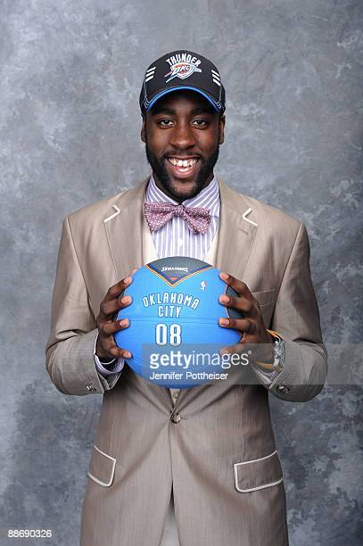 James Harden poses for a portrait during the 2009 NBA Draft at The WaMu Theatre at Madison Square Garden on June 25, 2009 in New York, New York. NOTE...