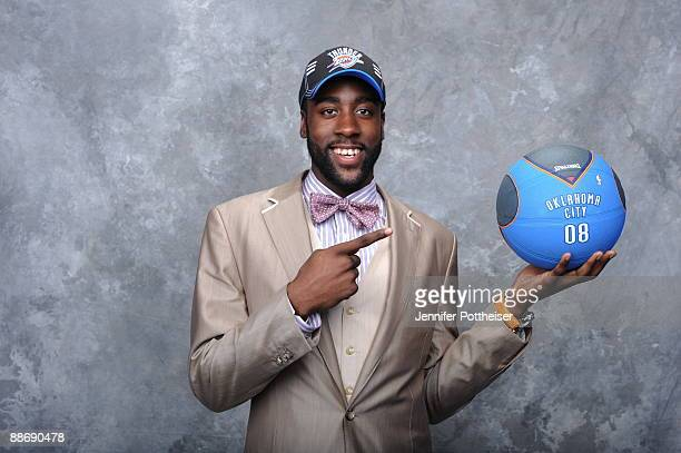 James Harden poses for a portrait during the 2009 NBA Draft at The WaMu Theatre at Madison Square Garden on June 25 2009 in New York New York NOTE TO...