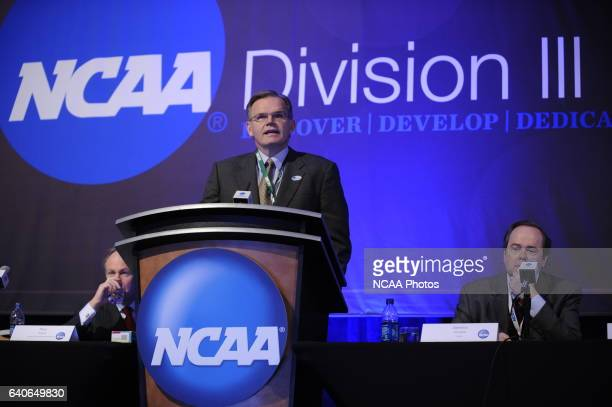 James Harris of Widener University during the DIII Issues Forum at the 2010 NCAA Photos via Getty Images Convention held at the Marriott Marquis and...