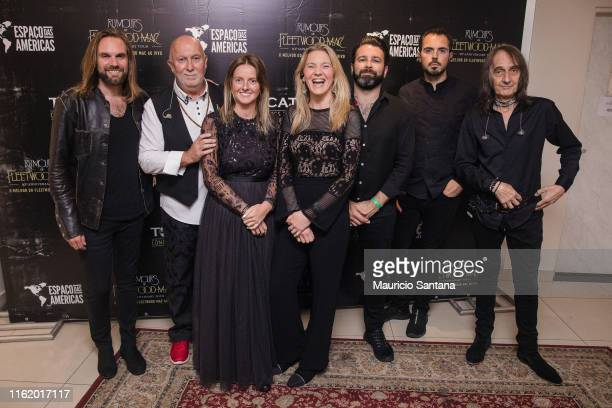 James Harrison Allan Cosgrove Jess Harwood Emily Gervers Etienne Girard Scott Poley and Dave Goldberg of the band Rumours of Fleetwood Mac before his...