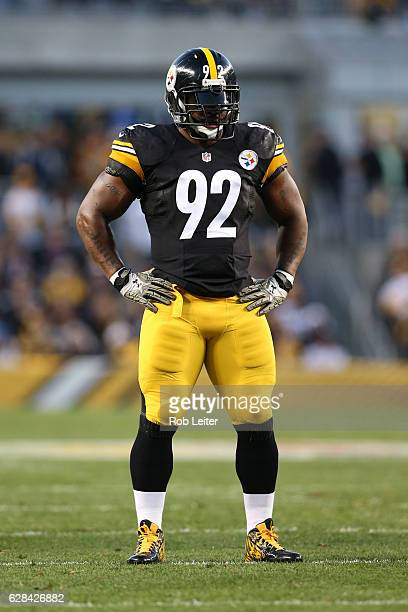 James Harrison of the Pittsburgh Steelers in action during the game against the Dallas Cowboys at Heinz Field on November 13 2016 in Pittsburgh...