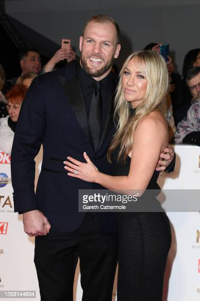 James Haskall and Chloe Madeley attend the National Television Awards 2020 at The O2 Arena on January 28 2020 in London England