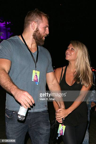 James Haskell and Chloe Madeley at the Roundhouse for the Apple Music Britney Spears Concert on September 27 2016 in London England