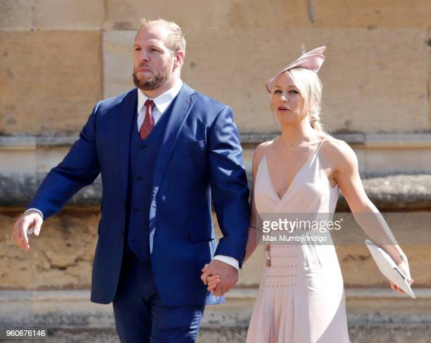 James Haskell and Chloe Madeley attend the wedding of Prince Harry to Ms Meghan Markle at St George's Chapel Windsor Castle on May 19 2018 in Windsor...