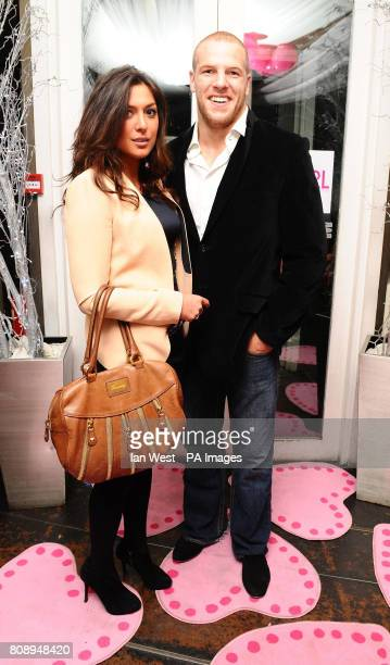 James Haskell and Francesca Willi at the Playgirl Magazine launch party at the Blanca Bar London