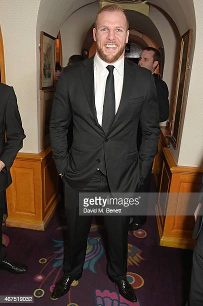 James Haskell attends the 6 Nations Review dinner supporting the Matt Hampson Foundation and Wooden Spoon children's charity at Annabel's on March...