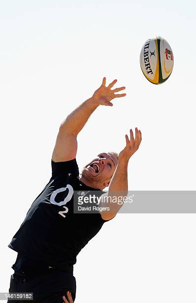 James Haskell catches the ball during the England training session held at St. David's School on June 11, 2012 in Sandton, South Africa.