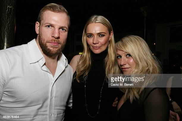 James Haskell Jodie Kidd and Chloe Madeley attend a Gala Performance of 'Yarico' hosted by show producer Jodie Kidd at the Bijou Theatre London...