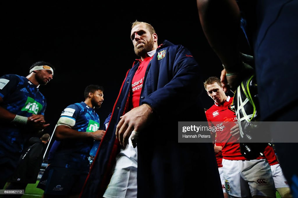 James Haskell of the Lions walks off after losing the match between the Auckland Blues and the British & Irish Lions at Eden Park on June 7, 2017 in Auckland, New Zealand.