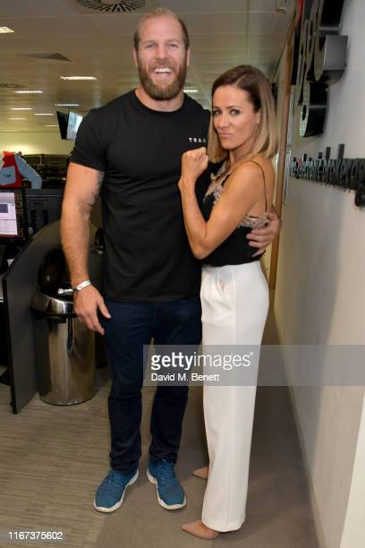 James Haskell representing Brainwave and Natalie Pinkham representing Hopes and Homes for Children attend BGC Charity Day at One Churchill Place on...