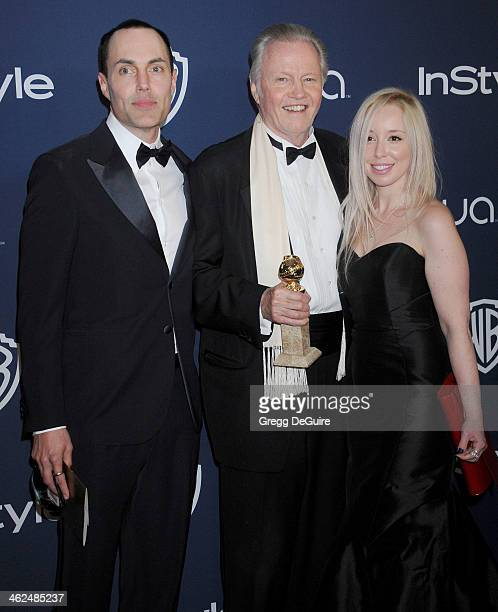 James Haven actor Jon Voight and goddaughter Skyler Shaye arrive at the 2014 InStyle And Warner Bros 71st Annual Golden Globe Awards postparty at The...