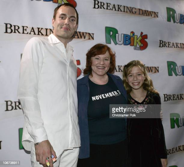 James Haven Edie McClurg and Jennette McCurdy during Hasbro's Rubiks Cube presents 'Breaking Dawn' US Premiere at the Hollywood Film Festival at...