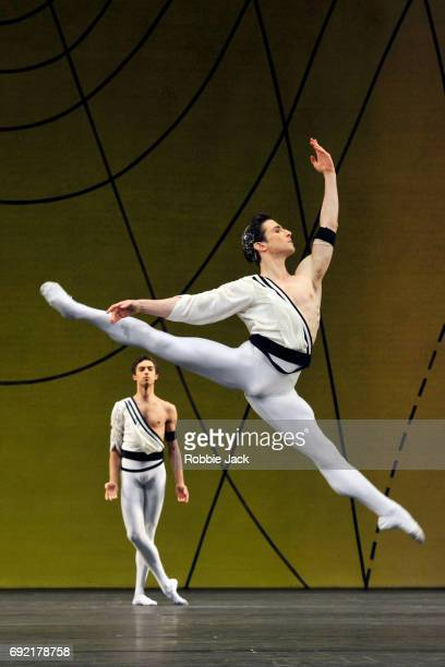James Hay and Tristan Dyer in the Royal Ballet's production of Frederick Ashton's Symphonic Variations at the Royal Opera House on June 1 2017 in...