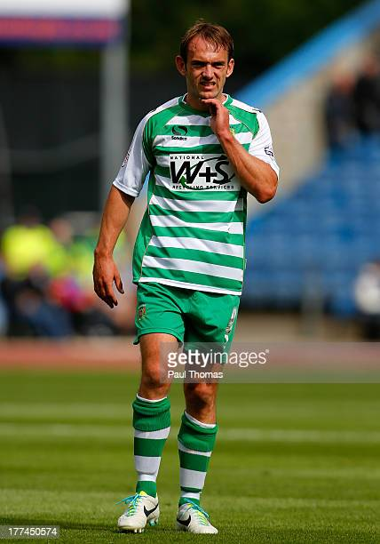 James Hayter of Yeovil watches on during the Sky Bet Championship match between Burnley and Yeovil Town at Turf Moor on August 17 2013 in Burnley...